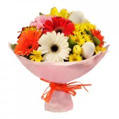 Karışık mevsim buketi Mevsimsel çiçek  İstanbul Kadıköy internetten çiçek siparişi