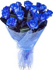 9 adet mavi gülden buket çiçeği  İstanbul Kadıköy hediye çiçek yolla