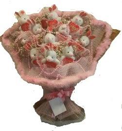 12 adet tavşan buketi  İstanbul Kadıköy çiçek mağazası , çiçekçi adresleri