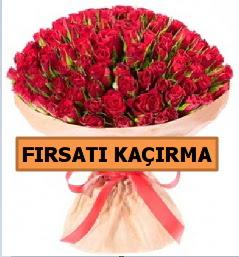 SON 1 GÜN İTHAL BÜYÜKBAŞ GÜL 101 ADET  İstanbul Kadıköy internetten çiçek satışı