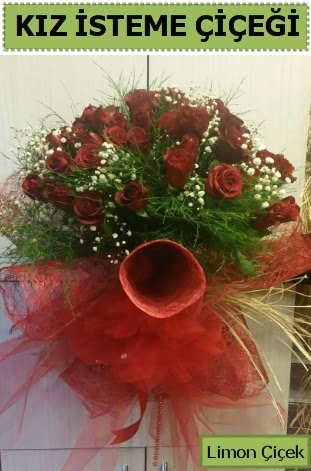 41 adet kırmızı gülden kız isteme buketi  İstanbul Kadıköy çiçek satışı