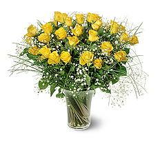 İstanbul Kadıköy çiçek siparişi sitesi  15 adet sarigül mika yada cam vazoda