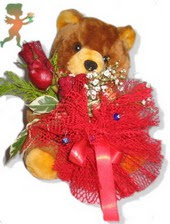 oyuncak ayi ve gül tanzim  İstanbul Kadıköy çiçekçiler