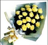 sari güllerden sade buket  İstanbul Kadıköy çiçek , çiçekçi , çiçekçilik