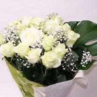 İstanbul Kadıköy hediye çiçek yolla  11 adet sade beyaz gül buketi