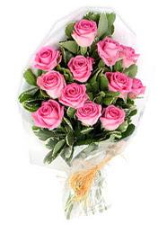 İstanbul Kadıköy yurtiçi ve yurtdışı çiçek siparişi  12 li pembe gül buketi.