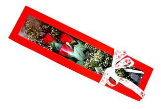 İstanbul Kadıköy hediye çiçek yolla  Kutuda 3 adet gül