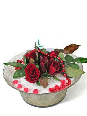 İstanbul Kadıköy çiçek siparişi vermek  EN ÇOK Sevenlere 7 adet kirmizi gül mika yada cam tanzim