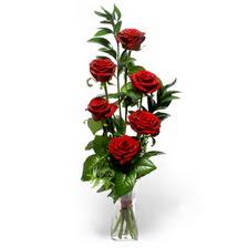 İstanbul Kadıköy uluslararası çiçek gönderme  mika yada cam vazoda 6 adet essiz gül