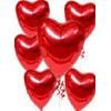 İstanbul Kadıköy online çiçekçi , çiçek siparişi  17 adet FOLYO kalp görünümünde uçan balon
