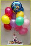 İstanbul Kadıköy anneler günü çiçek yolla  25 adet uçan balon ve 1 kutu çikolata hediye