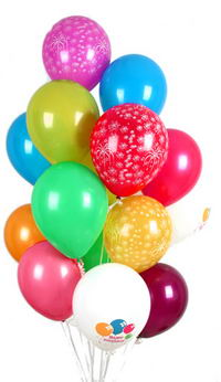 İstanbul Kadıköy hediye çiçek yolla  30 adet uçan balon buketi demeti renkli