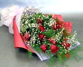 10 adet kirmizi gül çiçegi gönder  İstanbul Kadıköy anneler günü çiçek yolla