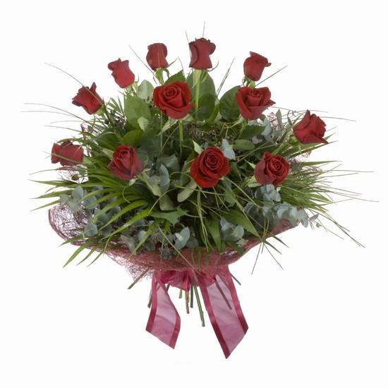 Etkileyici buket 11 adet kirmizi gül buketi  İstanbul Kadıköy internetten çiçek satışı