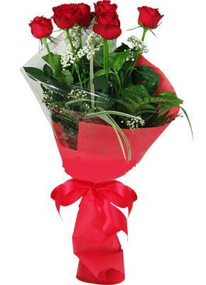 7 adet kirmizi gül buketi  İstanbul Kadıköy çiçek yolla , çiçek gönder , çiçekçi