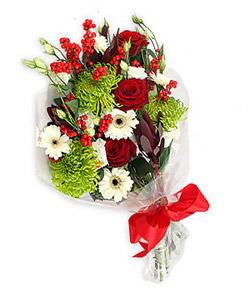Karisik mevsim buketi çiçek tanzimi  İstanbul Kadıköy internetten çiçek siparişi