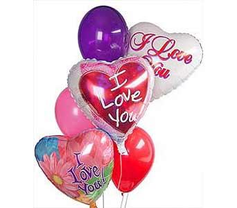 seni seviyorum yazili balonlar