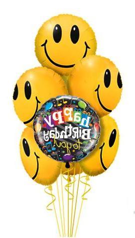 15 adet gülen adam parti balonu - uçan balon