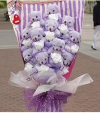 11 adet pelus ayicik buketi  İstanbul Kadıköy çiçek gönderme sitemiz güvenlidir