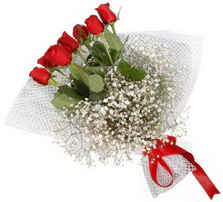 7 adet kirmizimi kirmizi gül buketi  İstanbul Kadıköy hediye sevgilime hediye çiçek
