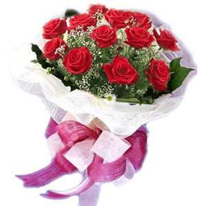 İstanbul Kadıköy çiçek satışı  11 adet kırmızı güllerden buket modeli