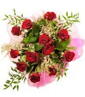 12 adet kırmızı gül buketi  İstanbul Kadıköy 14 şubat sevgililer günü çiçek