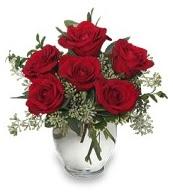 Vazo içerisinde 5 adet kırmızı gül  İstanbul Kadıköy çiçekçi mağazası