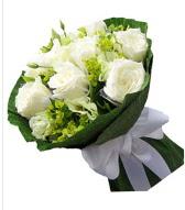 9 adet beyaz gül buketi  İstanbul Kadıköy çiçek siparişi sitesi
