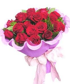 12 adet kırmızı gülden görsel buket  İstanbul Kadıköy çiçekçi mağazası
