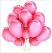 25 adet pembe uçan balon