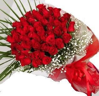 51 adet kırmızı gül buketi  İstanbul Kadıköy çiçek gönderme sitemiz güvenlidir