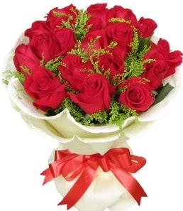 19 adet kırmızı gülden buket tanzimi  İstanbul Kadıköy çiçek servisi , çiçekçi adresleri