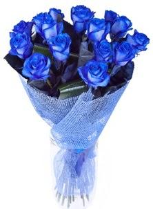 12 adet mavi gül buketi  İstanbul Kadıköy çiçek servisi , çiçekçi adresleri