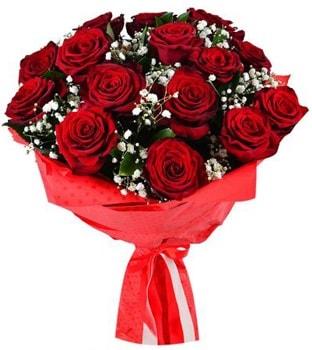 Kız isteme çiçeği buketi 17 adet kırmızı gül  İstanbul Kadıköy çiçekçi telefonları