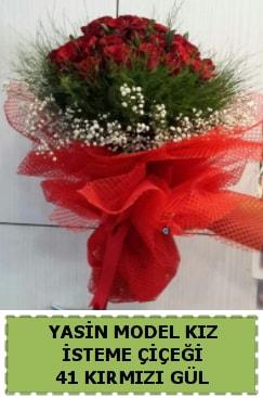 41 Adet kırmızı gül kız isteme çiçeği  İstanbul Kadıköy çiçek gönderme sitemiz güvenlidir