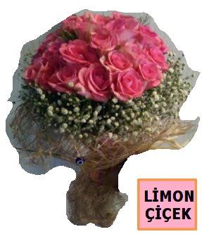 Pembe gül kız isteme söz nişan çiçeği  İstanbul Kadıköy çiçek gönderme