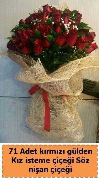 71 adet kırmızı gül söz nişan çiçeği  İstanbul Kadıköy çiçek satışı