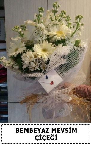 Bembeyaz görsel mevsim çiçek buketi  İstanbul Kadıköy çiçek yolla