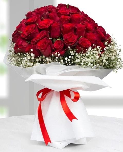 41 adet kırmızı gül buketi  İstanbul Kadıköy çiçek satışı  süper görüntü