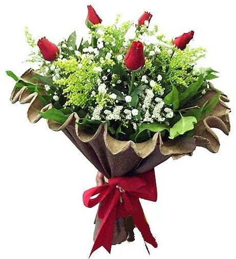 5 adet gülden buket  İstanbul Kadıköy çiçek gönderme sitemiz güvenlidir