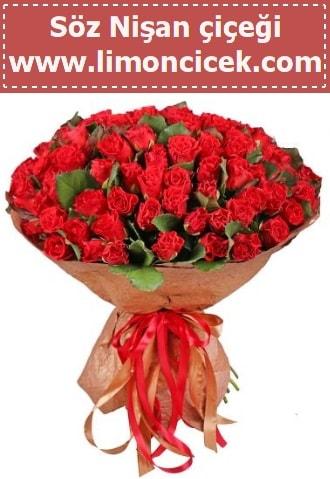 Kız isteme söz nişan çiçeği 101 gül  İstanbul Kadıköy çiçek gönderme sitemiz güvenlidir