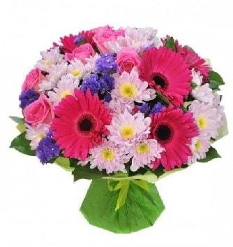 Karışık mevsim buketi mevsimsel buket  İstanbul Kadıköy çiçek satışı