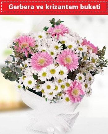 Papatya ve Gerbera Buketi  İstanbul Kadıköy çiçek , çiçekçi , çiçekçilik