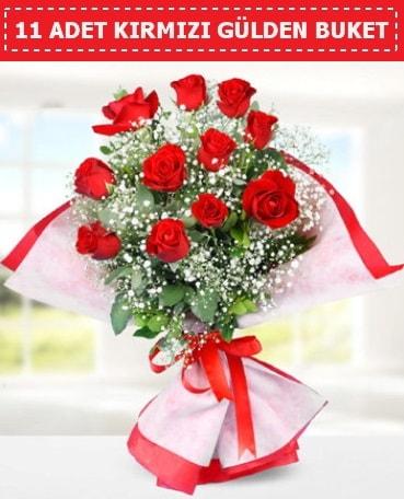 11 Adet Kırmızı Gül Buketi  İstanbul Kadıköy internetten çiçek siparişi