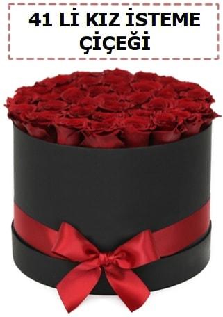 41 li kız isteme kutuda çiçek  İstanbul Kadıköy ucuz çiçek gönder