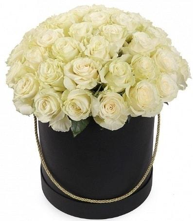 33 adet beyaz gül özel kutuda isteme çiçeği  İstanbul Kadıköy internetten çiçek satışı